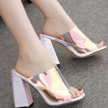 Hot style hot selling all - match film with thick with high slippers