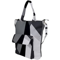 Gray Area Shoulder Tote Bag