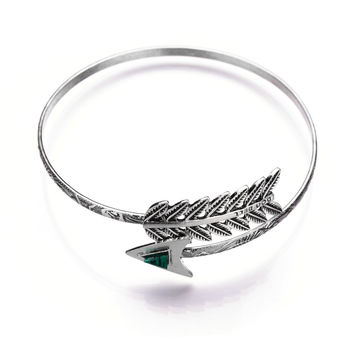 Awesome Hot Sale Gift Shiny Stylish New Arrival Great Deal Fashion Accessory Vintage Metal Bangle Weathered Leaf Ring Adjustable Bracelet [8581973255]