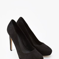 Faux Suede Pumps