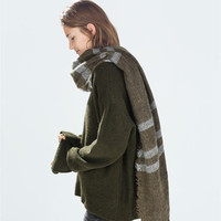 Winter Soft Stripes Cashmere Scarf [9572829967]