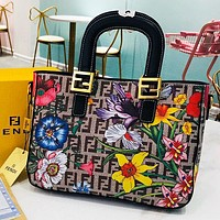 Fendi New fashion floral  more letter print high quality shoulder bag crossbody bag handbag