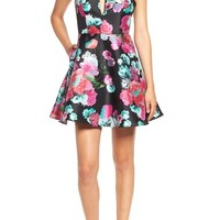 Dear Moon Floral Print Fit & Flare Dress | Nordstrom