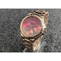 GUESS fashion trend gradient quartz waterproof steel belt watch F-Fushida-8899 4