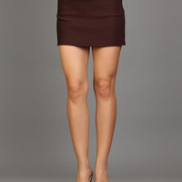 DARK BROWN MINI SKORT