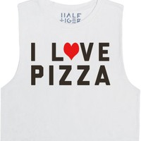 I Love Pizza-Female Snow T-Shirt