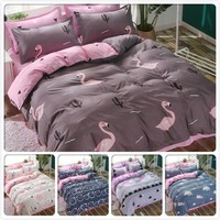 Cool Europe Flamingo Pattern Duvet Cover Quilt Comforter Case 3/4 pcs Bedding Set Kids Girls Bed Linen Single Queen King Size 150x200AT_93_12