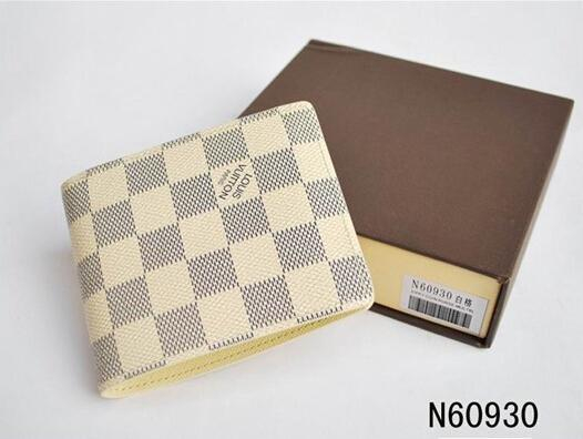 Image of LOUIS VUITTON 1:1 MENS BROWN REAL LEATHER WALLET + BOX