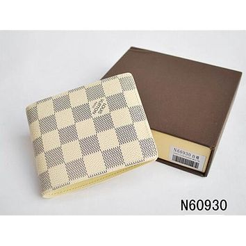 LOUIS VUITTON 1:1 MENS BROWN REAL LEATHER WALLET + BOX