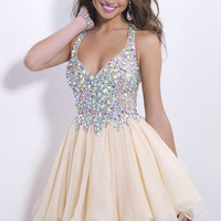 Free Shipping Knee Length Chiffon Ball Cocktail Gown Formal dresses Party Short Prom Dress Champagne