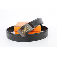 Hermes belt men's and women's casual casual style H letter fashion belt17