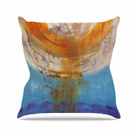 "Steve Dix ""Source of Energy"" Orange Blue Throw Pillow"