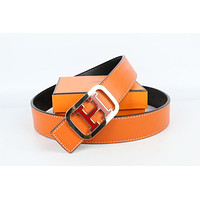 Hermes belt men's and women's casual casual style H letter fashion belt221