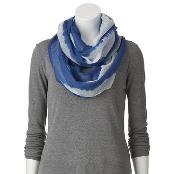 Chaps Tie-Dyed Infinity Scarf, Size: One Size (Blue)
