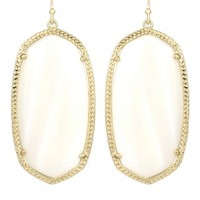 Danielle Statement Earrings in White Pearl - Kendra Scott Jewelry