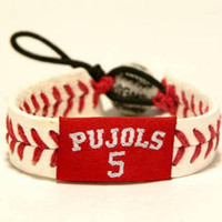 Gamewear MLB Leather Wrist Band - Pujols