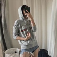 Gucci grey hot hoodie cute sweater