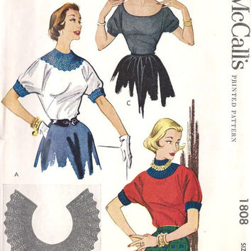 1950 Misses' Rockabilly Sweater Blouses with by MissBettysAttic