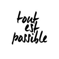 """Inspirational Quote Wall Decor """"Tout Est Possible"""" Typography Print Inspirational Poster"""