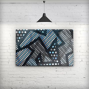 Abstract Black and Blue Overlap - Fine-Art Wall Canvas Prints