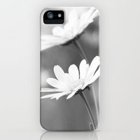 Schwarz weiß Daisy Picture iPhone Case by Tanja Riedel | Society6