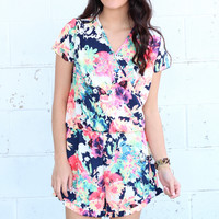Take Me To The Beach Floral Romper {Mix}