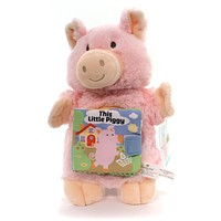 Plush THIS LITTLE PIGGY PUPPET BOOK Fabric Nat & Jules Story Time 5004700459
