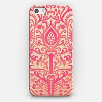Strawberry Watercolor Tulip Damask on Wood iPhone 6 case by Tangerine- Tane | Casetify