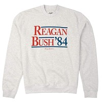 Reagan Bush '84 Crewneck Sweatshirt in Light Grey by Rowdy Gentleman