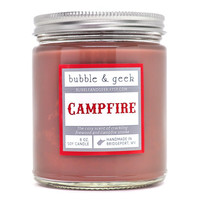 Campfire scented soy candle - 8 oz. jar - firewood, smoke