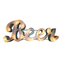 Beer Marquee Letter Light Sign