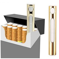 1 Gold USB Charger Electric Lighter - Nacodex Rechargeable USB Lighter, USB Cigarette Lighter Portable Rechargeable Best Selling Don't Flick Your Bic!