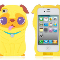 Pug Shape Protective Case for iPhone 4/4S
