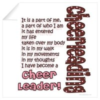 Become a Cheerleader Wall Decal
