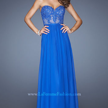 Strapless Gown for Prom by La Femme 20393