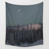 Big White Stars V Wall Tapestry by Luke Gram