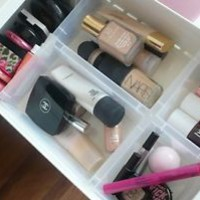 Clear Makeup Drawer Organizer Cabinet  Director Tray Basket Insert Compartment
