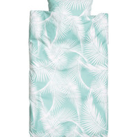 H&M - Duvet Cover Set - Turquoise/patterned