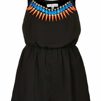 **Tribal Trim Strappy Playsuit by Rare