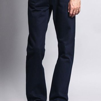 Men's Slim Fit Colored Denim Jeans (Navy)