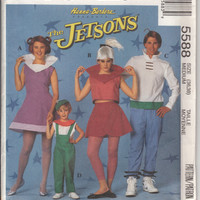 The Jetsons Costume Pattern, McCall's Costume Pattern 5588 Adult Medium Uncut, Cosplay, Halloween Space Costume, Jane, Judy, George & Elroy