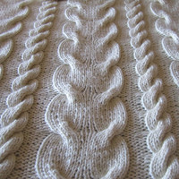 Super chunky cable hand knitted throw/afghan/blanket - MADE TO ORDER