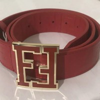 Men's Red Fendi Belt