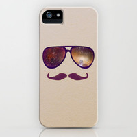 Vintage Galaxy Glasses and Mustache iPhone Case by RebekahEDesigns | Society6
