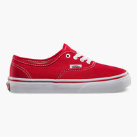 Vans Authentic Kids Shoes Red/True White  In Sizes