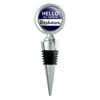 Deshawn Hello My Name Is Wine Bottle Stopper