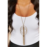 In The Long Run Tassel Necklace (Antique Gold)