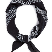 BLACK PAISLEY BANDANA necker - New This Week - New In - TOPMAN USA