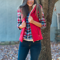 So Puff Vest, Red