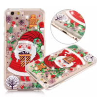 Cute Cartoon Christmas Santa Claus  Iphone 7 7plus & 6 6s plus&5s se Cover Case